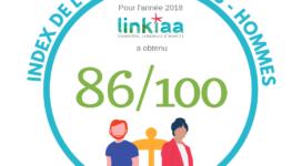 Index égalité professionnelle 2018 Linkiaa
